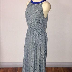 Lucky Brand XL Patterned Maxi Halter Dress